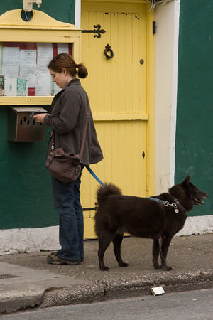 Terri and Coco in Dingle, Ireland