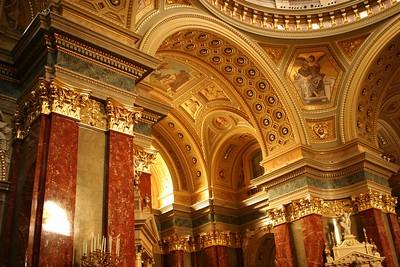Inside St Stephen's Basilica, Budapest